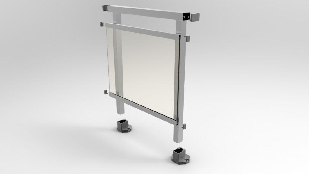 vidrio enmarcado