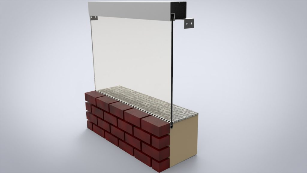 vidrio sin montante